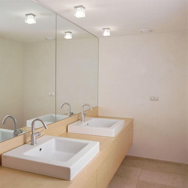 Cubetto colour 1 luce soffitto fabbian soffitto - Luce soffitto bagno ...