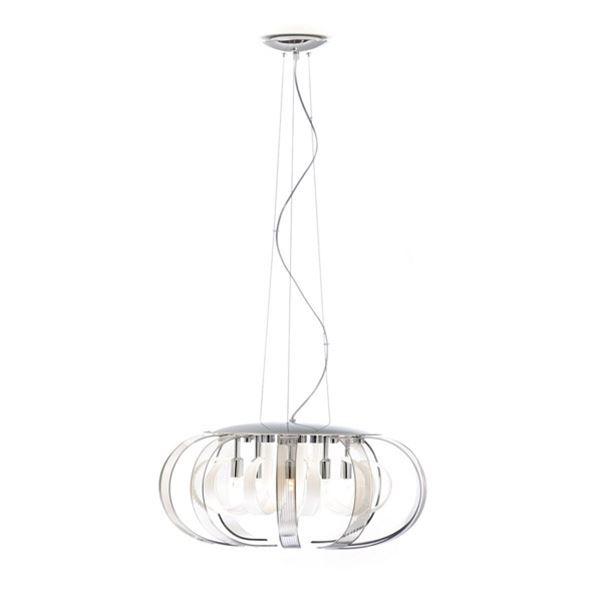 lampadari micron : Lampadario a sospensione, 10 petali in vetro bianco e cristallo ...