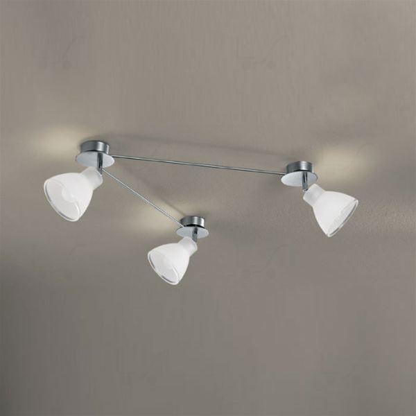 Campana binario 3 luci nichel soffitto/parete - Linea ...