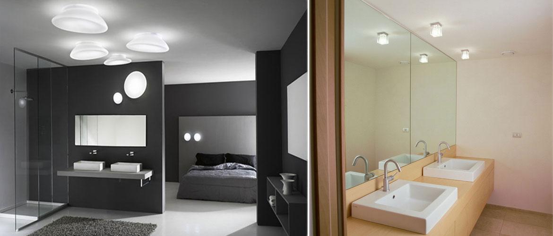 Illuminazione bagno plafoniere faretti lampadari applique progetti in luce - Lampadari da bagno ...