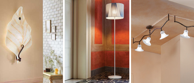 Illuminazione ingressi ed entrate applique faretti for Lampadari moderni per ingresso