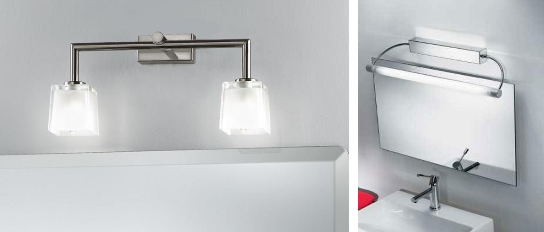 Illuminazione specchio bagno faretti lampade e applique progetti in luce - Lampade per il bagno allo specchio ...