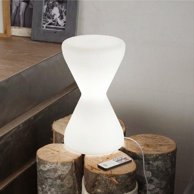 clessidra led lampada da tavolo linea light tavolo