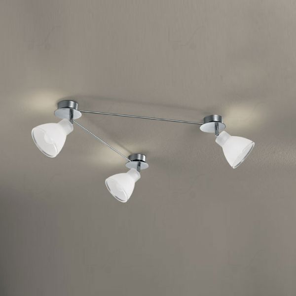 Campana binario 3 luci nichel soffitto/parete - Linea Light - Soffitto - Prog...