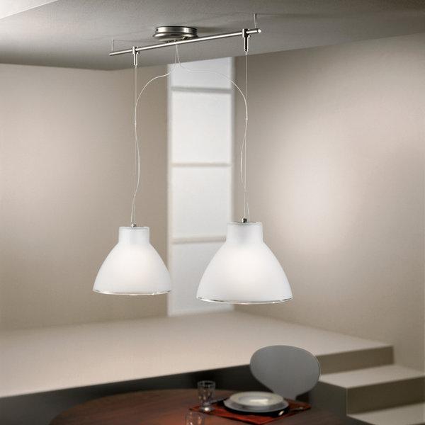Campana 2 Luci Nichel Linea Light Lampadari Sospensione Progetti In ...