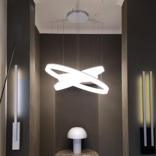 Circ sospensione tripla leds c4 illuminazione for Lampadari moderni per ingresso