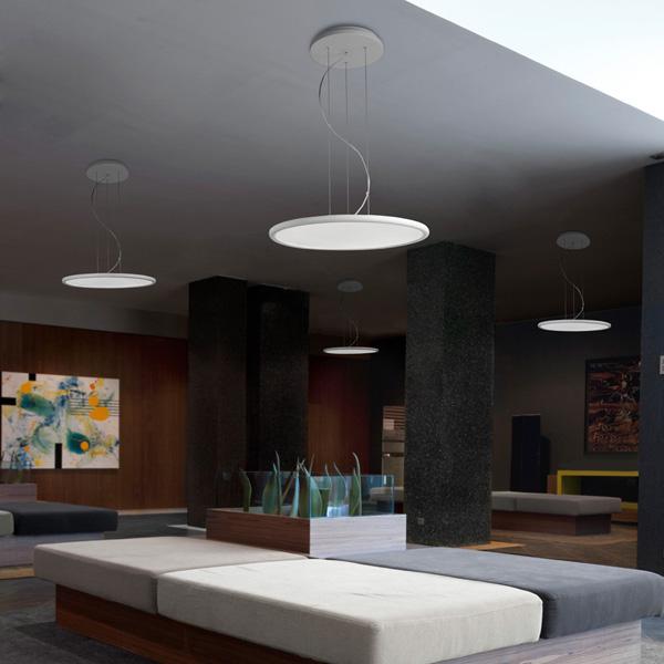 Net lampadario rotondo leds c4 illuminazione lampadari - Lampadari ufficio ...
