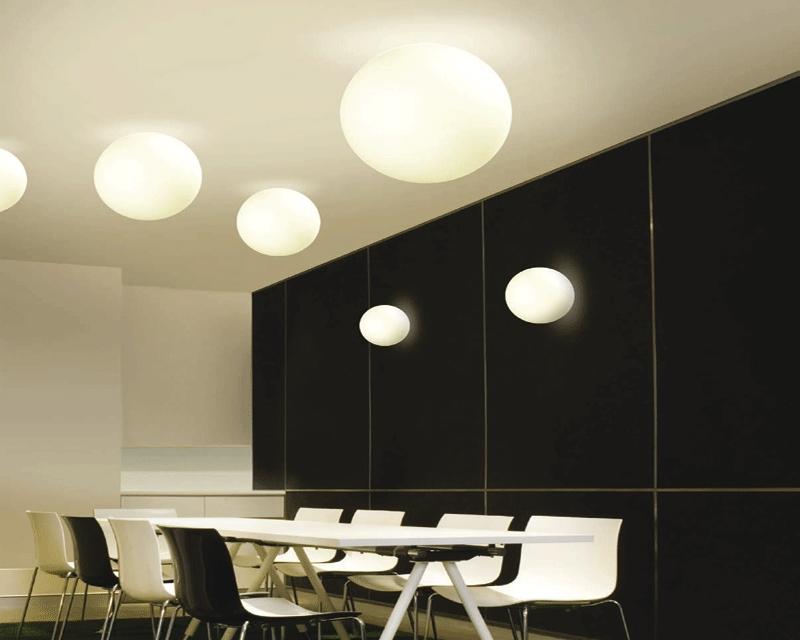 Oh plafoniera a sfera linea light soffitto progetti in luce