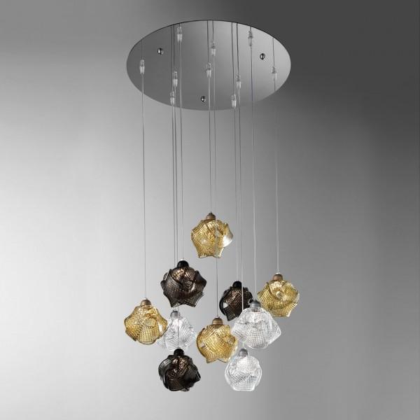 Gomitoli 10 luci sospensione bellart lampadari for Luci x camera da letto