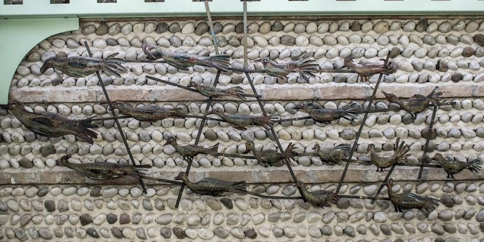 scultura uccelli
