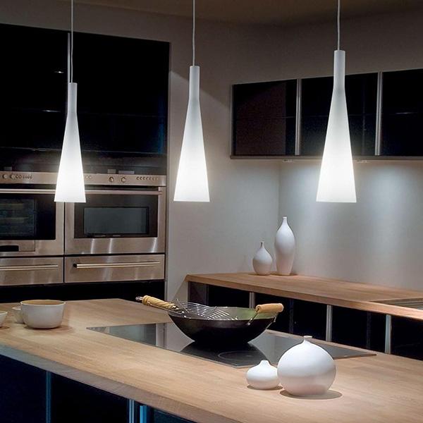 Suspension Luminaire Cuisine: Milk Lampada A Sospensione