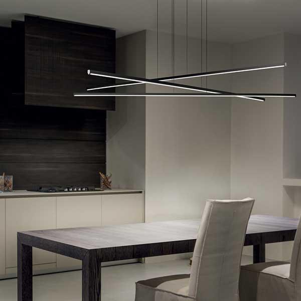Straight p3 lampada a sospensione linea light for Lampada ufficio design