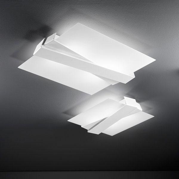 Zig zag s plafoniera small linea light soffitto progetti in luce - Lampada bagno soffitto ...