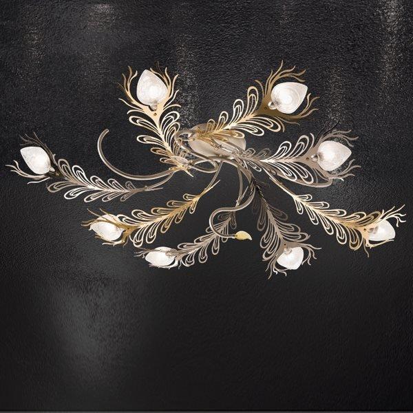 Plafoniera 8 luci bellart soffitto progetti in luce - Plafoniera camera da letto ...