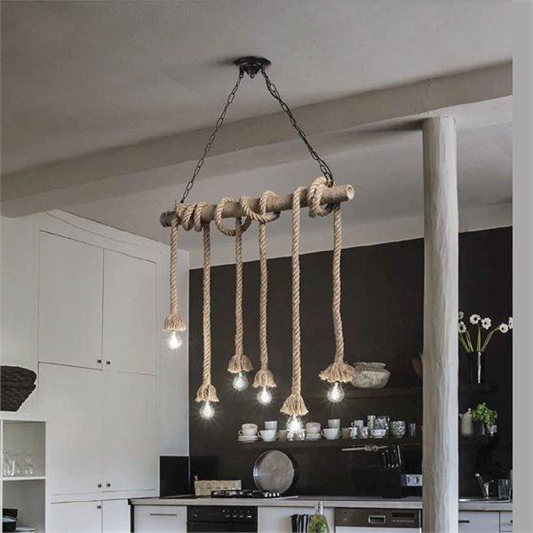 Canapa 6 luci sospensione ideal lux lampadari - Luci sospensione design ...